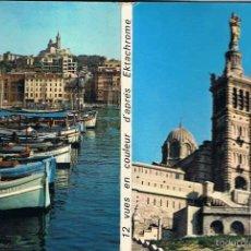 Postales: LIBRO DE 12 POSTALES DE MARSELLA (FRANCIA) AÑOS 50-60. Lote 58439045