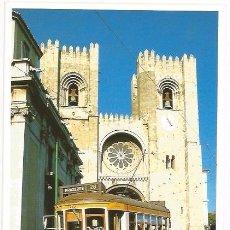 Postales: [POSTAL] SÉ CATEDRAL Y TRANVÍA. LISBOA (PORTUGAL) (SIN CIRCULAR). Lote 58478740