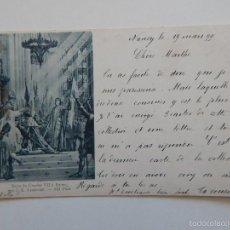 Postales: SACRE DE CHARLES VII À REIMS, PAR J. E. LENEPVEU - CIRCULADA EN 1899. Lote 58534192