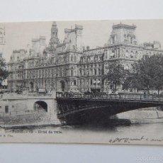 Postales: PARIS. 12. HOTEL DE VILLE - CIRCULADA EN 1904. Lote 58564444