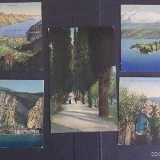 Postales: 5 ANTIGUAS POSTALES DE FOTOGRAFIAS COLOREADES DEL LAGO DI GARDA, SIN CIRCULAR. Lote 58583147