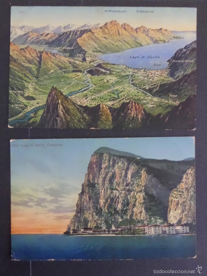 Postales: 5 antiguas postales de fotografias coloreades del lago di Garda, sin circular - Foto 3 - 58583147