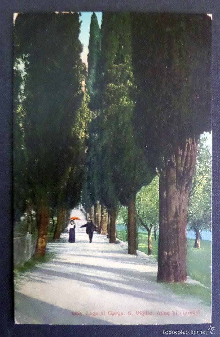 Postales: 5 antiguas postales de fotografias coloreades del lago di Garda, sin circular - Foto 4 - 58583147