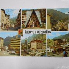 Postales: POSTAL VALLS D' ANDORRA. LES ESCALDES I ANDORRA LA VELLA. TDKP7. Lote 58585143