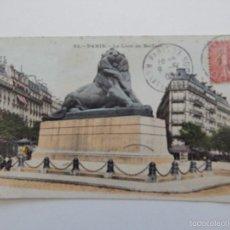 Postales: 85. PARIS. LE LION DE BELFORT - CIRCULADA EN 1906. Lote 58740555