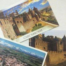 Postales: LOTE DE TRES POSTALES DE CARCASSONNE, FRANCIA, SIN CIRCULAR, POSTAL.. Lote 72213191