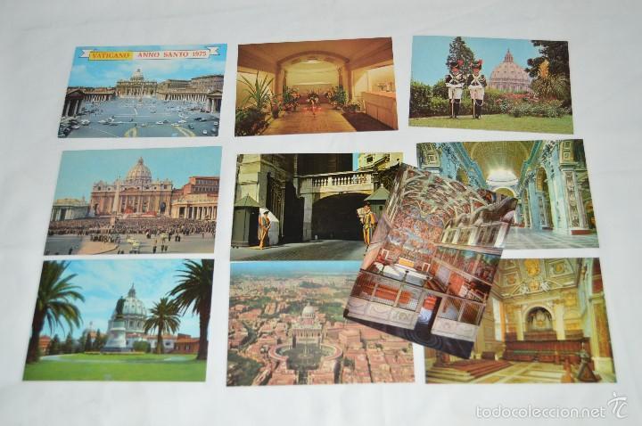 LOTE 10 TARJETAS POSTALES - SIN CIRCULAR - RECUERDO DEL VATICANO - MIRA LAS FOTOS (Postales - Postales Extranjero - Europa)
