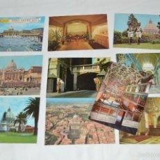 Postales: LOTE 10 TARJETAS POSTALES - SIN CIRCULAR - RECUERDO DEL VATICANO - MIRA LAS FOTOS. Lote 60772331
