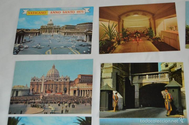 Postales: LOTE 10 TARJETAS POSTALES - SIN CIRCULAR - RECUERDO DEL VATICANO - MIRA LAS FOTOS - Foto 2 - 60772331