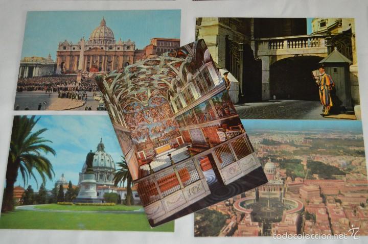 Postales: LOTE 10 TARJETAS POSTALES - SIN CIRCULAR - RECUERDO DEL VATICANO - MIRA LAS FOTOS - Foto 4 - 60772331