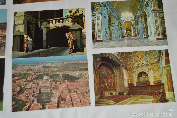 Postales: LOTE 10 TARJETAS POSTALES - SIN CIRCULAR - RECUERDO DEL VATICANO - MIRA LAS FOTOS - Foto 5 - 60772331