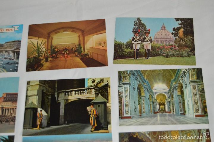 Postales: LOTE 10 TARJETAS POSTALES - SIN CIRCULAR - RECUERDO DEL VATICANO - MIRA LAS FOTOS - Foto 6 - 60772331