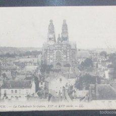 Postales: FRANCIA. TOUR. LA CATHÉDRALE ST. GATIEN. Lote 60830591