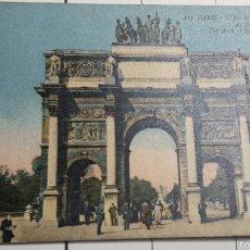 Postales: POSTAL ARCO DEL TRIUNFO PARIS 1930. Lote 60954063