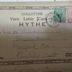 Postales: ANTIGUA CARTA CON SERIE POSTALES 1928. Lote 61024978
