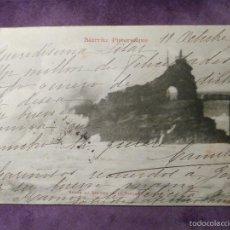 Postales: POSTAL - FRANCIA, PAIS VASCO FRANCÉS - BIARRITZ PITTORESQUE - VAGUE A ROCHER DE LA VIERGE - AÑO 1904. Lote 61227463