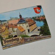 Postales: LIBRITO CON 16 FOTOGRAFÍAS A TODO COLOR DE BAMBERG, ALEMANIA - MIRA LAS FOTOGRAFÍAS. Lote 61435187