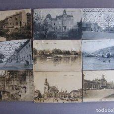 Postales: LOTE DE 21 POSTALES DE LIEJA Y OTRAS CIUDADES BELGAS Y UNA DE AMSTERDAM. 1914.. Lote 61481755