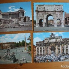 Postales: LOTE 4 POSTALES DE ROMA SIN CIRCULAR . Lote 61607368