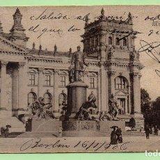 Postales: ALEMANIA / DEUTSCHLAND - GRUSS AUS BERLIN - AÑOS 10 - CIRCULADA - POSTAL ORIGINAL- ANIMADA - 1906. Lote 61727232