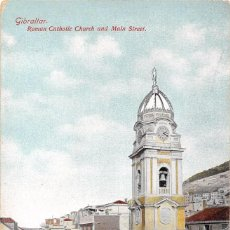 Postales: GIBRALTAR.- ROMAN CATHOLIC CHURCH AND MAIN STREET. Lote 61731732