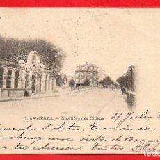 Postales: FRANCIA - ASNIERES - CIMETIERE DES CHIENS - CEMENTERIO - AÑOS 10 - CIRCULADA. Lote 61739280