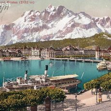 Postales: SUIZA/SWITZERLAND - LUZERN UND PILATUS - 30089-ED PHOTOGLOB, ZÜRICH -AÑOS 10- POSTAL COLOREADA-1911. Lote 61739812