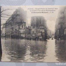 Postales: POSTAL ANTIGUA - PARIS INUNDACIONES 1910 CARREFOUR DES RUES TRAVERSIERE ET THEOPHILE ROUSSEL . Lote 61846136