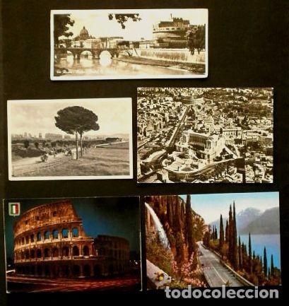 LOTE 5 POSTALES DE ITALIA (ITALIA) - (AÑOS 60) - ROMA Y LA GARDESANA (Postales - Postales Extranjero - Europa)