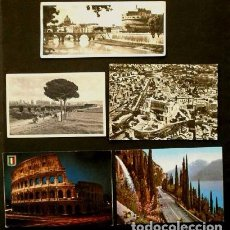 Postales: LOTE 5 POSTALES DE ITALIA (ITALIA) - (AÑOS 60) - ROMA Y LA GARDESANA. Lote 61880704