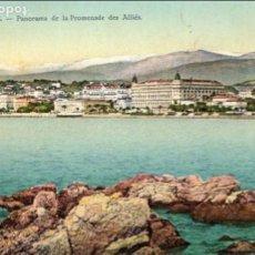 Postales: FRANCIA - CANNES - PANORAMA DE LA PROMENADE DES ALLIÉS - AÑOS 20 -. Lote 61935788