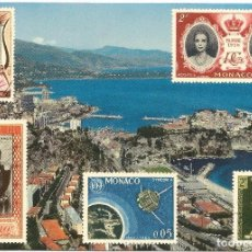 Postales: ** PN384 - POSTAL - PRINCIPADO DE MONACO - VISTA GENERAL DE MONACO Y MONTECARLO. Lote 61988176