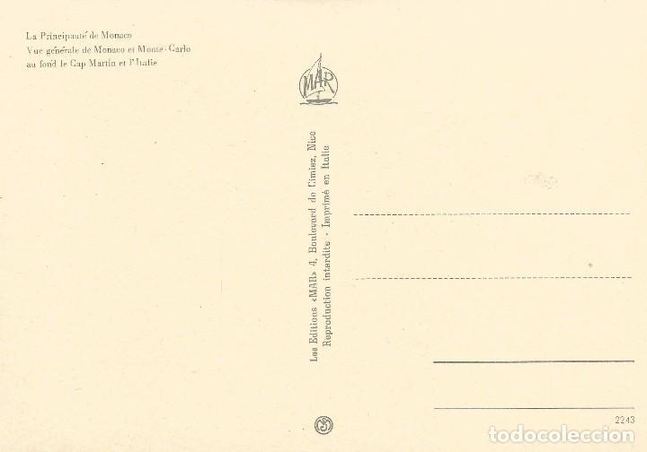 Postales: ** PN384 - POSTAL - PRINCIPADO DE MONACO - VISTA GENERAL DE MONACO Y MONTECARLO - Foto 2 - 61988176