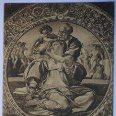 Postales: FLORENCIA FIRENZE GALLERIA PITTI S. FAMIGLIA (MICHELANGELO BUONARROTTI) VIAGGIATA 1914. Lote 62205368