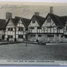 Postales: WARWICKSHIRE STRATFORD UPON AVON - HALL´S CROFT FROM THE GARDEN CIRCULATED 1952. Lote 62206732