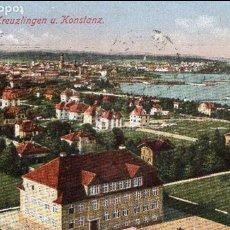 Postales: SUIZA - SWITZERLAND - KREUZLINGEN U KONSTANZ - Nº270 - AÑOS 20 - POSTAL ORIGINAL COLOREADA - 1922. Lote 62391168