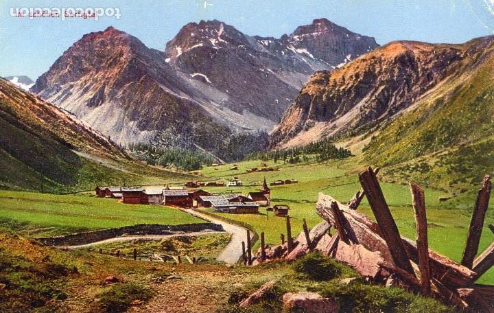 SUIZA - SWITZERLAND - SERTIGTAL - Nº109 - AÑOS 20 - POSTAL ORIGINAL COLOREADA - PHOTO J. TRAUFFER - (Postales - Postales Extranjero - Europa)
