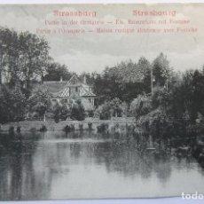 Postales: STRASSBURG PARTIE IN DER ORANGERIE-ELS. BAUERNHAUS MIT FONTAINE 1912 . Lote 62449568