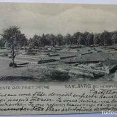 Postales: SAALBURG BEI HOMBURG V.D.H. RESTE DES PRAETORIUMS 1911. Lote 62451832