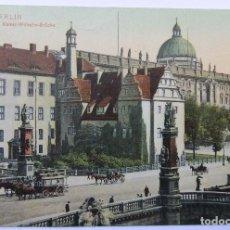 Postales: BERLIN KGL. SCHLOSS MIT KAISER WILHELM BRÜCKE 1909. Lote 62454512