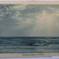 Postales: SONNENUNTERGANG AM MEERE 1913 (MIT SCHWEIZER CORREUS RATE) . Lote 62463580