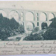 Postales: PLAUEN I. V. ELSTERTHALBRÜCKE BEI JOCKETA 1907. Lote 62465120