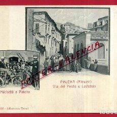 Cartes Postales: POSTAL PALENA, ABRUZZI, ITALIA, VIA DEL PONTE E LAVATOIO, P84038. Lote 62534056