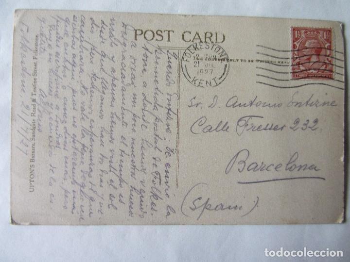 Postales: POSTAL FOLKESTONE. AÑO 1927 - Foto 2 - 62707436