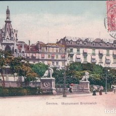 Postales: CARTE POSTALE 692 GENEVE MONUMENT BRUNSWICK . PHOTOTYPIE CO NEUCHATEL . TIMBRE DE LA POSTE 1907. . Lote 63118160