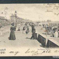 Postales: POSTAL LOWESTOFT THE MARINE PARADE. Lote 63327440
