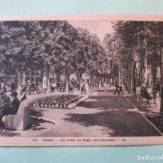 Postales: 2194 FRANCIA FRANCE ALLIER VICHY UN COIN DU PARC DES SOURCES 1932. Lote 63504300