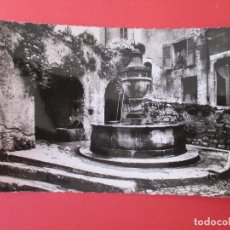 Postales: 2457 FRANCIA FRANCE ALPES MARITIMES ST PAUL DE VENCE, LA FONTAINE 1958. Lote 64720055