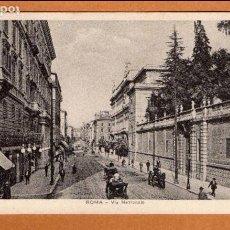 Postales: ITALIA - ROMA - VIA NAZIONALE - CARRO - ANIMADA - TRANVÍA - E. V. R. - AÑOS 20. Lote 64790407