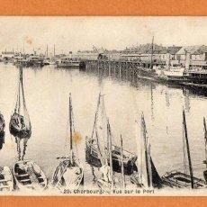 Postales: FRANCIA - CHERBOURG - OCTEVILLE - AÑOS 10 - PUERTO - VUE SUR LE PORT - BARCAS - SIN CIRCULAR - Nº 20. Lote 65565810